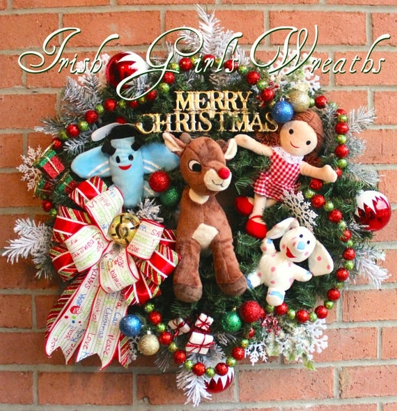 Rudolph and Misfit Toys Christmas Wreath