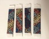 CLEARANCE! 2 Sets (4) Fridge Handle Covers, Hawaiian,geometric, brown/blue