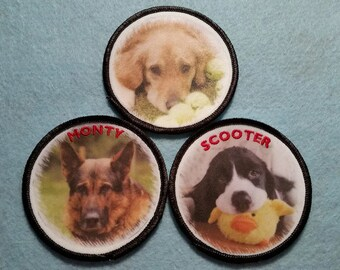 Custom Pet Photo Patches - Turn Your Favorite Photo into a Wearable Patch!