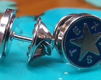 2 Texas de Zavala Tie Tacks, Lapel Pins or Hat Pins