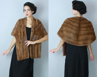 1950s Starlet Allure stole | vintage 50s mink fur stole | one size