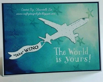 Take Flight - Best Wishes card