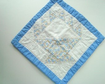Small vintage quilt pillow case