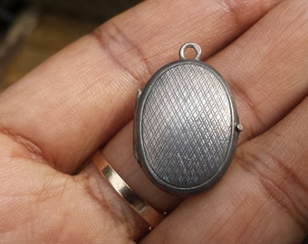 Antique Victorian Sterling Silver Locket Pendant