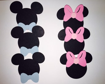 Disney Gender Reveal Pins, Party Pins, Baby Shower Games, Is it a Mickey or a Minnie? Cast your vote