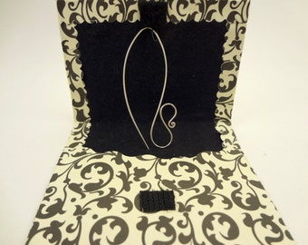 Long wire earrings sterling silver, simple, delicate, hook