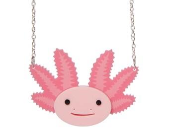 Axolotl Necklace - laser cut acrylic