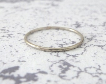 18ct White Gold Midi Ring - Made To Order