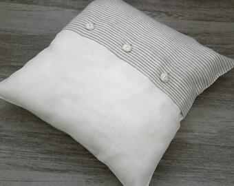 DECORATIVE PILLOW - linen cushion cover - linen pillow cases - linen throw pillows - linen shams - sofa pillows