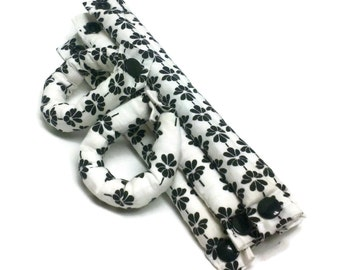 Innovative Soft Hair Rollers Black and White 3/4 inch/ Hair Accessories/Soft Hair Curlers