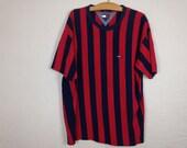 tommy hilfiger striped shirt size XL
