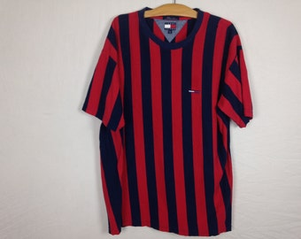 tommy hilfiger striped shirt size XL