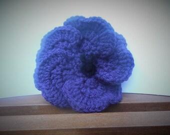 Halloween Spider Hair Bow, Girl's Hair Accessory, Spider Hair Clip, Purple Flower, Halloween Hair Clip