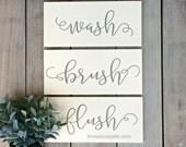 Bathroom Rules Wall Art- Rustic Bathroom Decor-  Rustic Wood Signs- Wall Art for Bathroom- Wooden Signs- Wall Signs