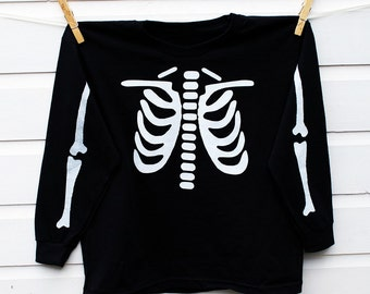 Glow In The Dark Skeleton T Shirt