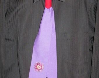 Dancers Purple Sun Tie Set