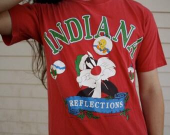 90s Looney Tunes Indiana Christmas Shirt