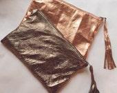 Clutch bag makeup bag lingerie bag metallic