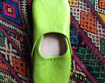 Women's Moroccan Leather Babouche/Slippers