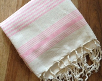 FREE SHIPPING!! Hand Loomed Moroccan Hammam Towel/Beach/Sarong/Throw