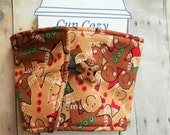 Gingerbread Christmas Candy Coffee Cozy