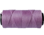 Macrame Cord 0.8mm - 15 meters/16 yards - Waxed Polyester Cord - Knotting Cord - Bright Lilac