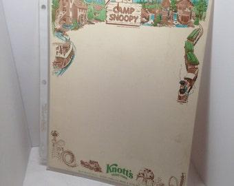 Vintage Peanuts Camp Snoopy Knotts Berry Farm Letterhead