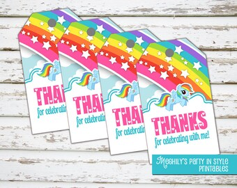 My Little Pony Favor Tags - INSTANT DOWNLOAD