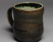 Clay Coffee Mug Beer Stein Soda Fired Green F9