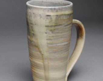 Clay Coffee Mug Beer Stein Wood Fired E28