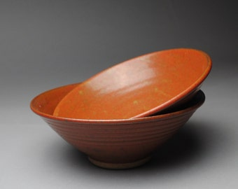 Clay Bowl Cereal Soup Stoneware Red Set  C67