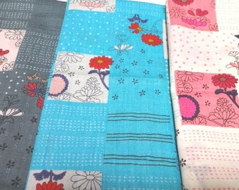 SALE Japanese Traditional Fabric Flower Komachi  FQ 4Pices S6-18