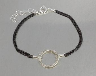 Dual Tone Trinity Bracelet (Silver)
