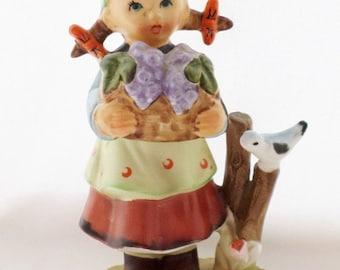 ON SALE Vintage, 1950's, Arnart, Figurine, Little Girl, Porcelain, Original Arnart Creation, Japan, Designed by Eric Stauffer, Signed & Numb