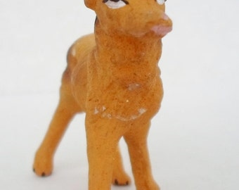 ON SALE Vintage Chalkware Dog, Made in Japan, Collectibles, Fugrine, Brown