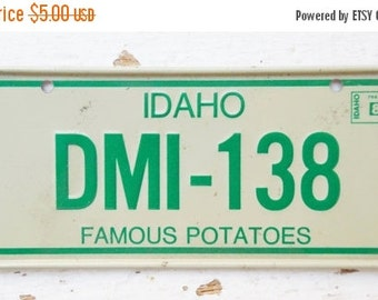 ON SALE Vintage, Idaho, 1981, Bike Plate, Bayou State, Bicycle, License Plate, Cereal Premium, Miniature, Tin, Embossed, Collectibles