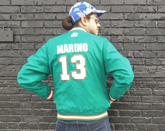 Classic Team NFL Collection 1990s Miami Dolphins / Dan Marino 13 Starter Jacket V Neck Pullover