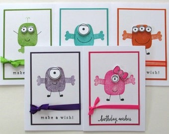 Little Monster Birthday Card, Monster Birthday Invitation (1)