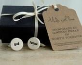 Ceramic 'Godfather' cufflinks