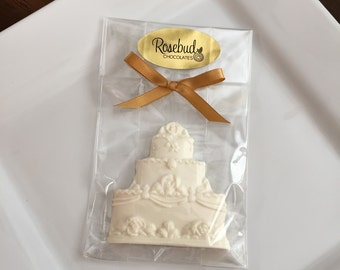 Chocolate Cake White Wedding Day Bridal Shower Birthday Candy Party Favors Anniversary Dessert Table Decor Decorations Sweet 16 Quinceanera