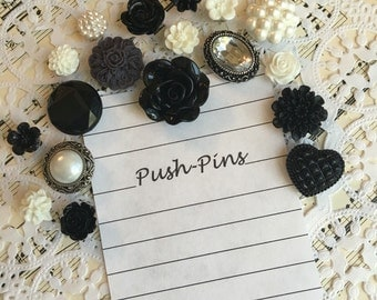 Thumb Tack Set, Push Pin Set, Bulletin Board Pins, Thumb Tacks, Tacks, Push Pins 079