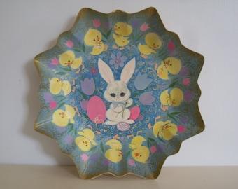 Vintage,Mid Century Easter Rabbit/Bunny Tray