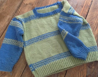 Knitted Jumper Childs Sweater Handmade Nordic