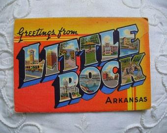 Little Rock Arkansas Postcard folder