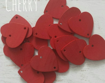 Extra Anniversary Hearts with Rings For Family Birthday Board/ Celebration Board....Cherry...Havensplace