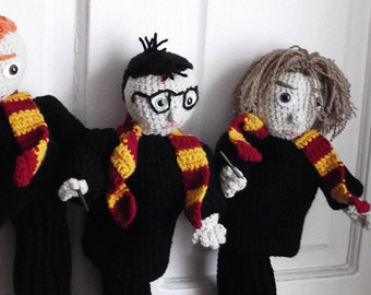 Golf Club Covers Harry, Ron & Hermione Buy 1, 2, or all 3. Ready to Ship Fun and Unique Gift for Harry Potter Fan