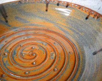 Handmade Pie Plate, Pottery Bowl, Ceramic Bowl Serving Bowl,