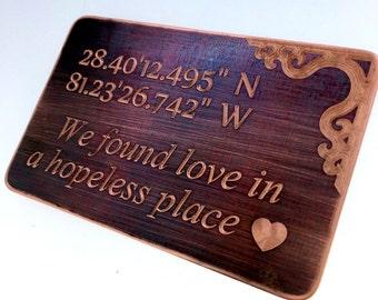 Wallet Insert Bronze Card - Personalized Hand Stamped Metal - Gift Husband Boyfriend 8 Eight Year Anniversary, Anniversary