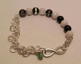 Black/white jumpring Bracelet