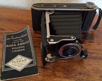 Vintage Agfa Anasco Folding Camera PD16 Plenax